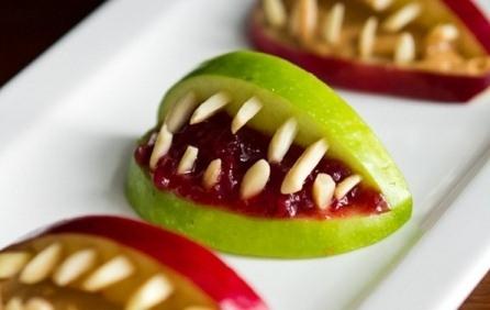 Three Ingredient Apple Halloween Bites