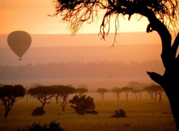 A Hot Air Balloon Flight over the Serengeti