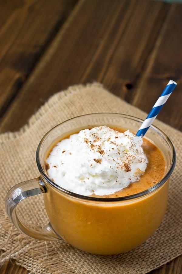 Healthy Pumpkin Spice Frappuccino