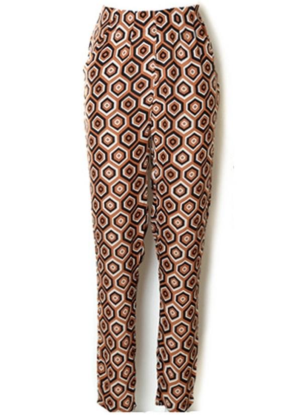 OASAP Geometrical Print Chiffon Pants