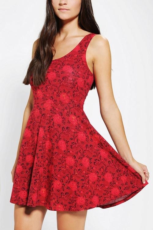 Urban Outfitters – Ecote Boho Print Knit Skater Dress