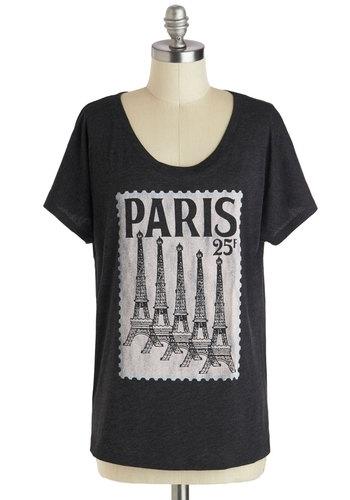 Modcloth Postcard from Paris Top