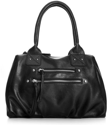 Material Girl Front Zip Satchel Handbag