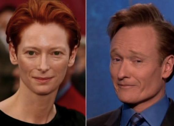 Tilda Swinton & Conan O'Brien