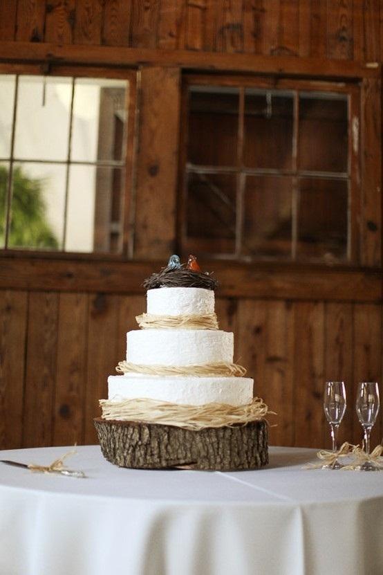Bird's Nest Rustic Wedding Cake
