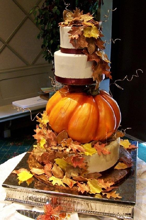 Rustic Pumpkin Wedding Cake