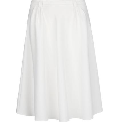 White Full Midi Skirt