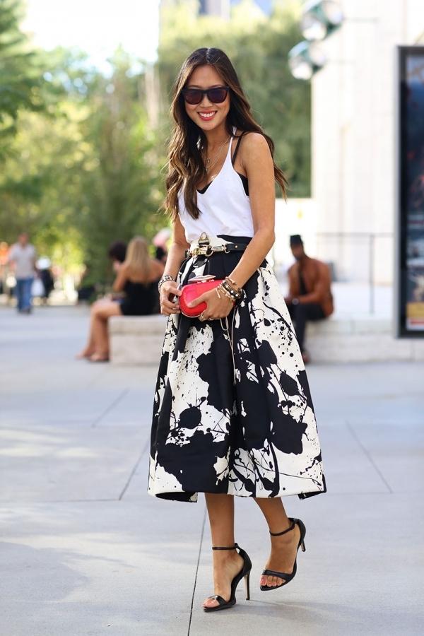 Statement Black and White Skirt