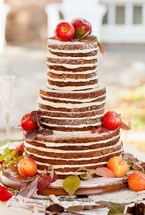 Apple Picking Rustic Wedding Cake