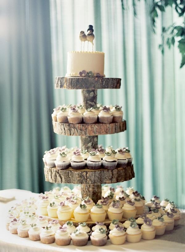 Rustic Cupcake Tower