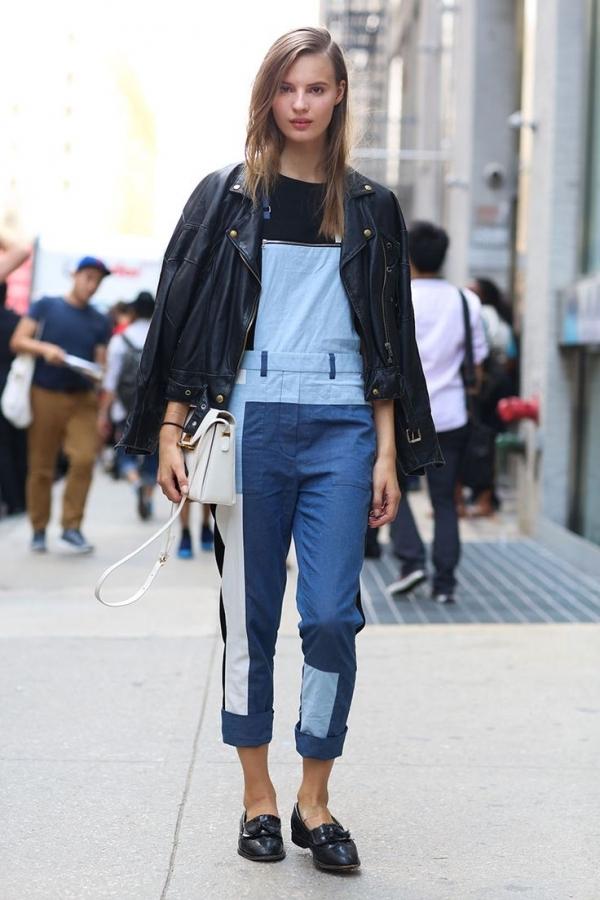 Resultado de imagen de street style patchwork jeans