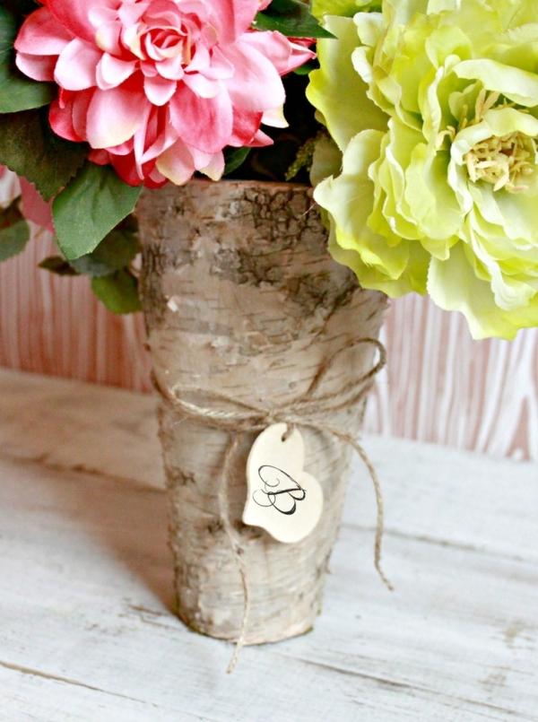 Rustic Bark Vase