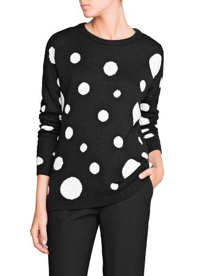 Polka Dot Print Sweater