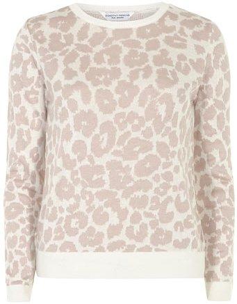 Blush Leopard Print Sweater