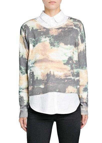 Landscape Print Sweater