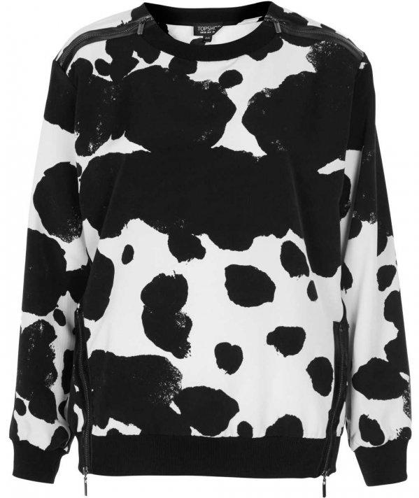 Monochrome Print Sweater