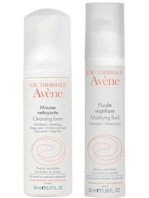 Eau Thermale Avène Cleansing Foam and Mattifying Fluid