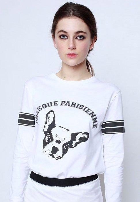 Cécile Presque Parisienne French Bulldog T-shirt