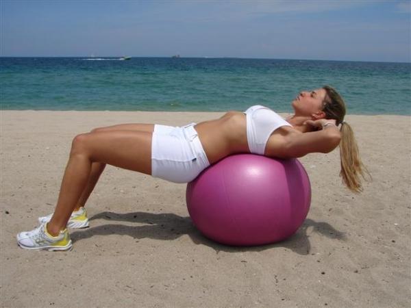 The Exercise Ball Beginner's Crunch