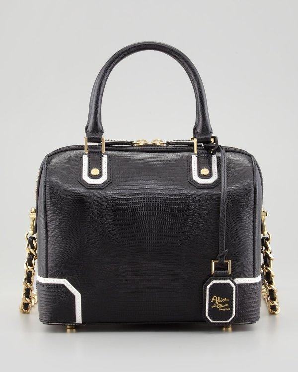 Alice + Olivia, Olivia Lizard Embossed Leather Bag