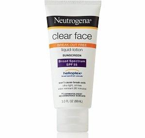 Neutrogena Clear Face Liquid Lotion Sunscreen Broad Spectrum SPF 55