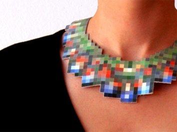 Pixelated Necklace