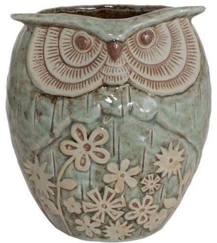 Ceramic Owl Planter