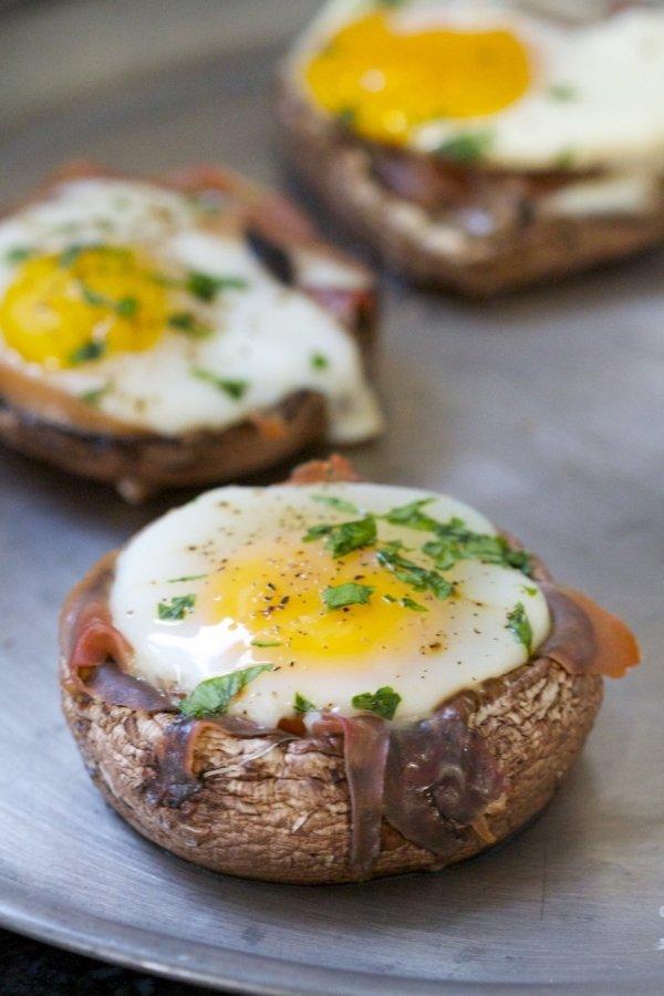 Microwave Mushroom Egg Bake