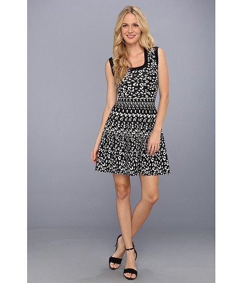 REBECCA TAYLOR Leopard Stretch Dress