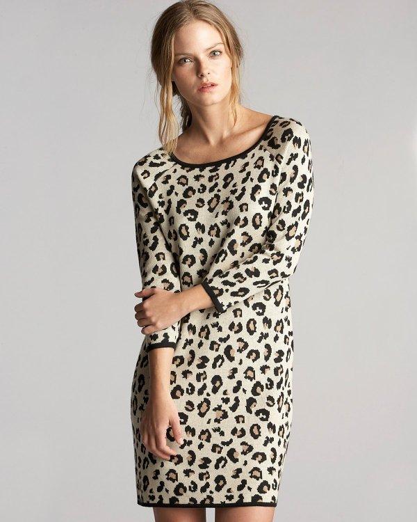 Velvet Leopard Sweater Dress