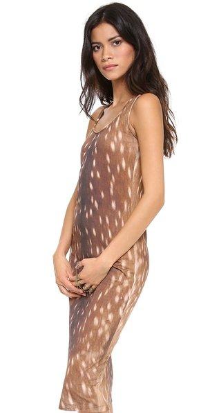 Carven Deer Print Tank Dress