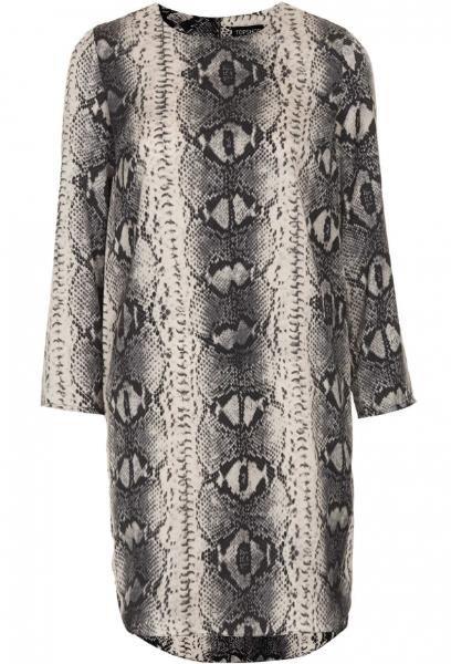 Topshop Snake Print Tunic Dress