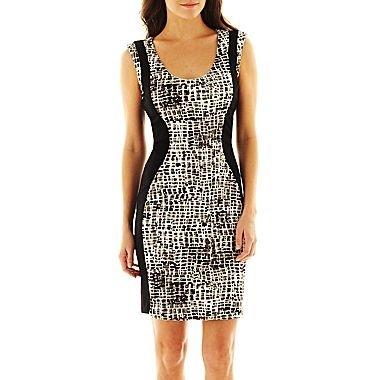 MNG by Mango® Animal Print Body-Con Dress