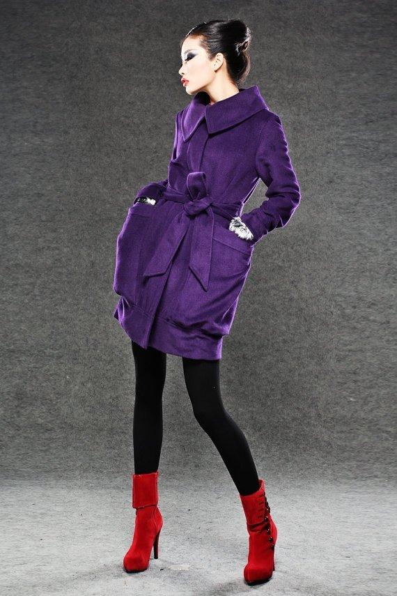 YL1dress – Purple Coat