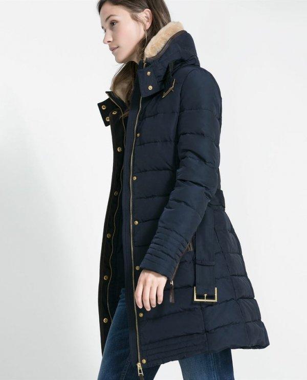 Zara Mid Length Puffer Anorak 7 Jewel Tone Coats To