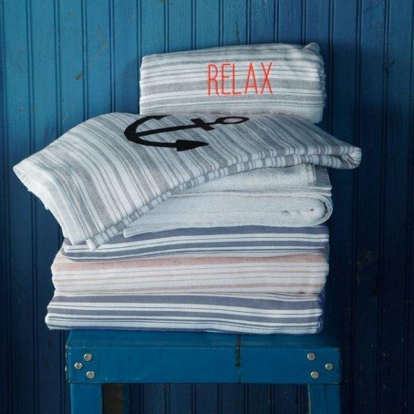 West Elm Spa Stripe Beach Towel