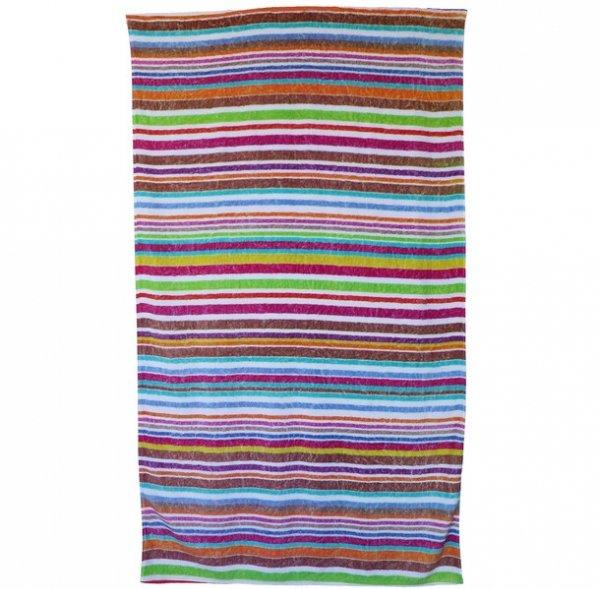 Fresco Towels Rainbow Stripe Beach Towel