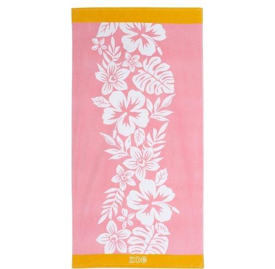 Hibiscus Pink Beach Towel