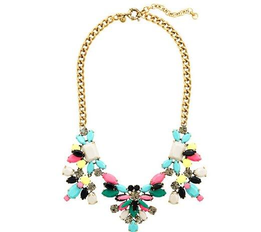 J.Crew Technicolor Floral Necklace