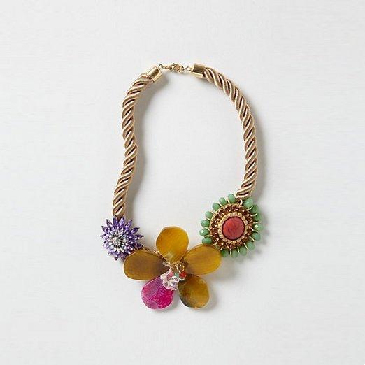 Anthropologie Floret Rope Necklace