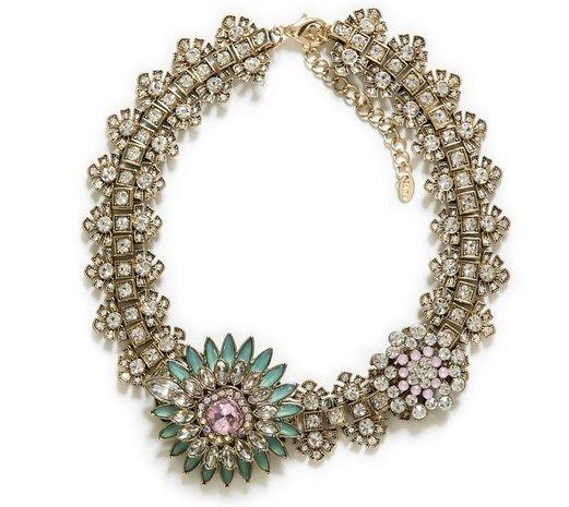 Zara Crystal Flower Necklace