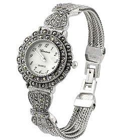 Geneva Women's Marcasite Antique Watch