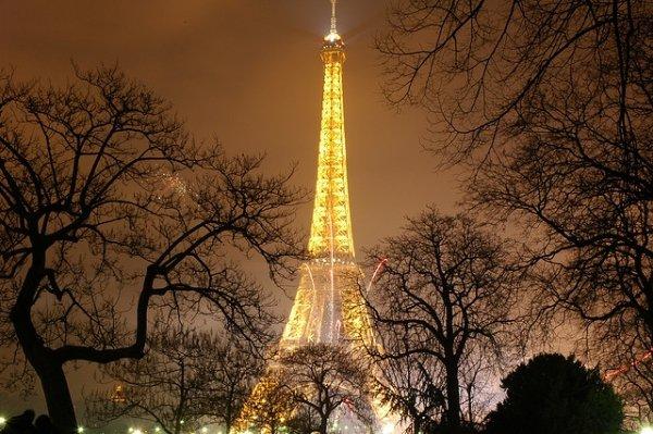 Paris Eiffel Tower Lights