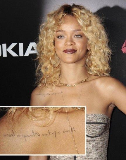 Rihanna's Mirrored Tattoo