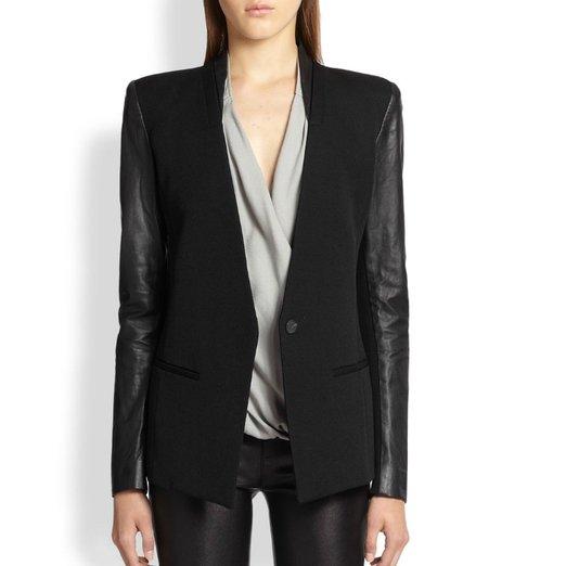 Helmut Lang Wool & Leather Blazer