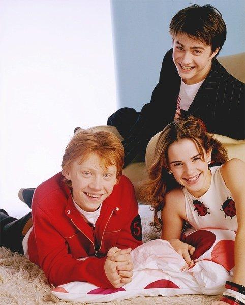 The Harry Potter Trio – Daniel Radcliffe, Emma Watson and Rupert Grint