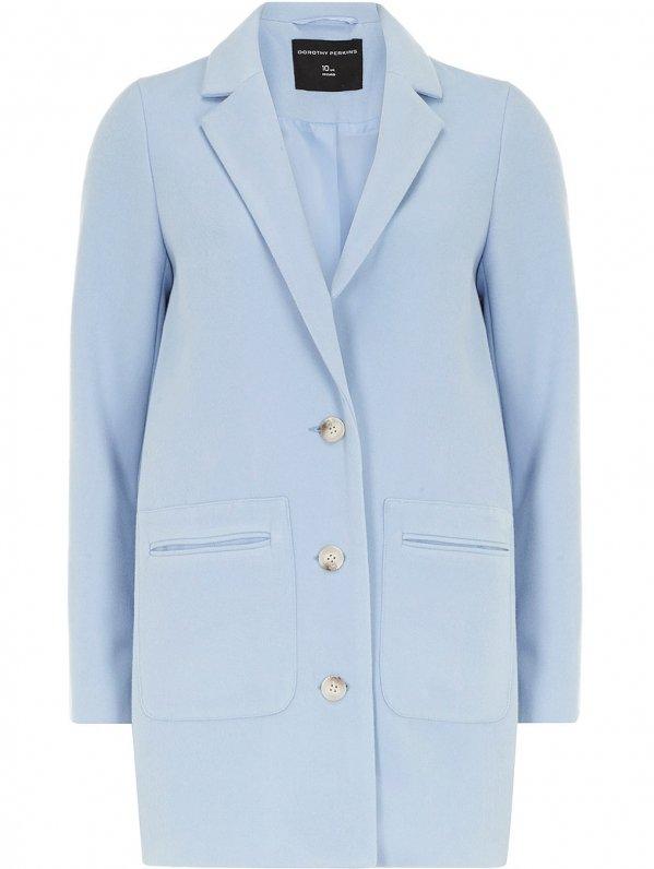 Light Blue Boyfriend Coat