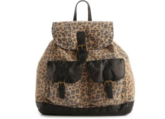 DSW – Poppie Jones Canvas Leopard Backpack