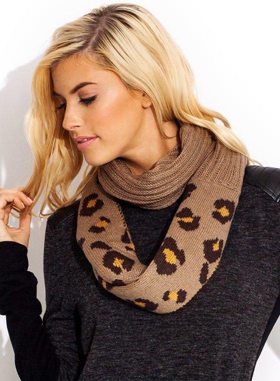 GoJane – to Infinity Leopard Knit Scarf