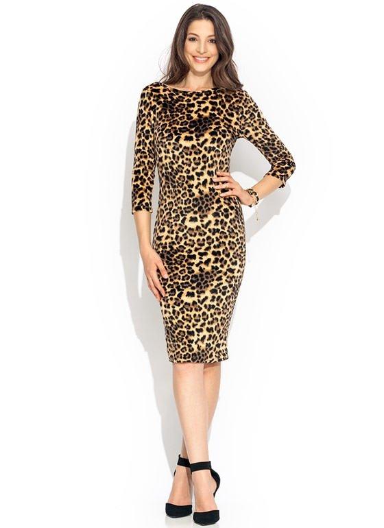 GoJane – Velvety Leopard Midi Dress
